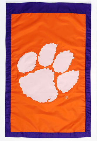 "Clemson University 28"" X 44"" Orange & White House Flag"