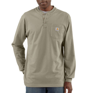 Carhartt K128 Men's Long Sleeve Pocket Henley Work T-Shirt
