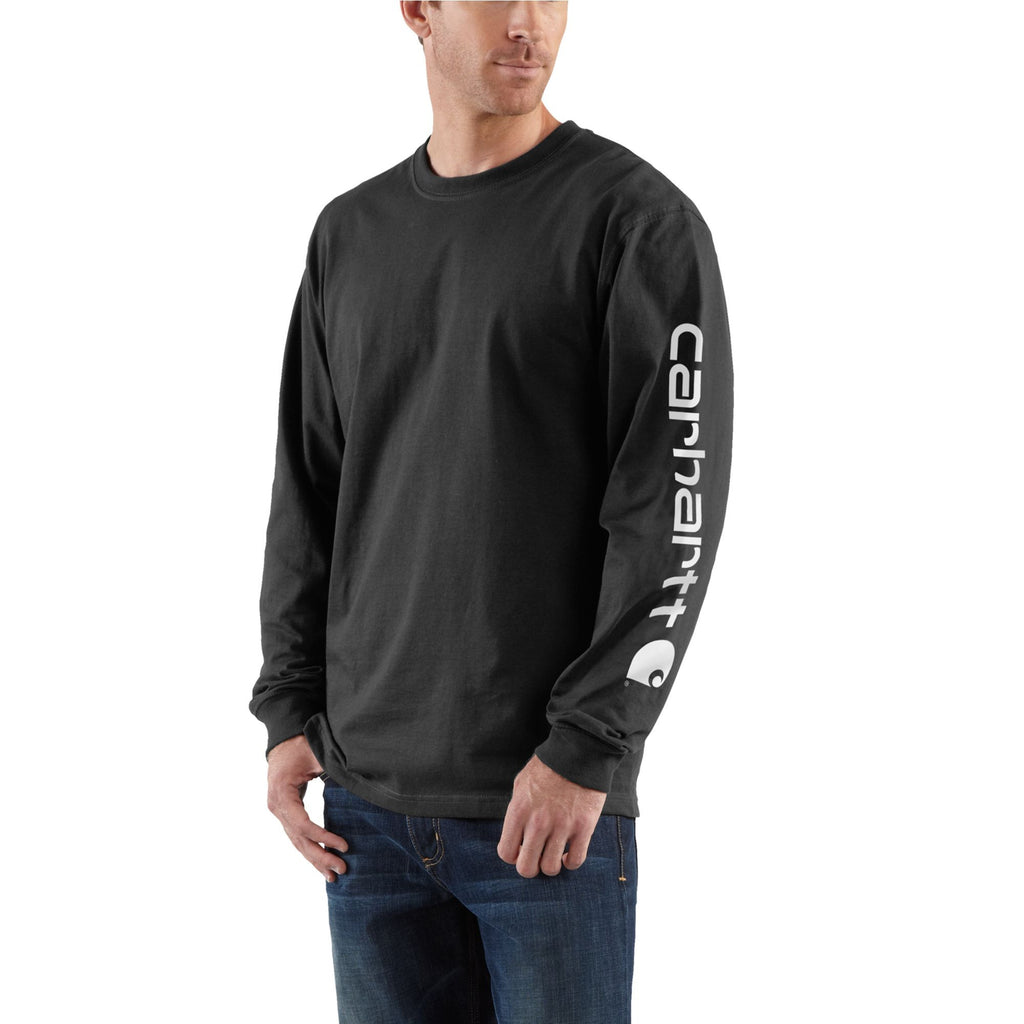 Carhartt K231 Signature Logo Long Sleeve T-Shirt