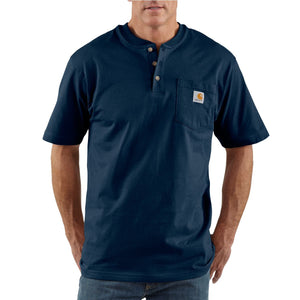 Carhartt K84 Men's Short Sleeve Pocket Henley Work T-Shirt