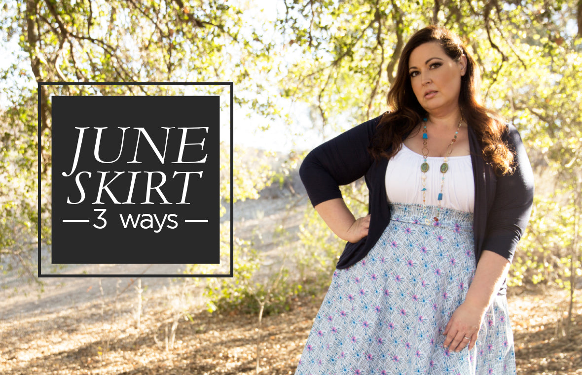 Plus Size June Skirt 3 ways