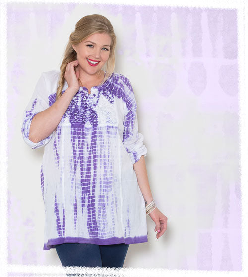 Plus Size Tie Dye Top