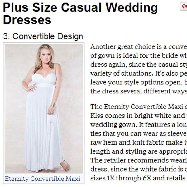 Plus Size Casual Wedding