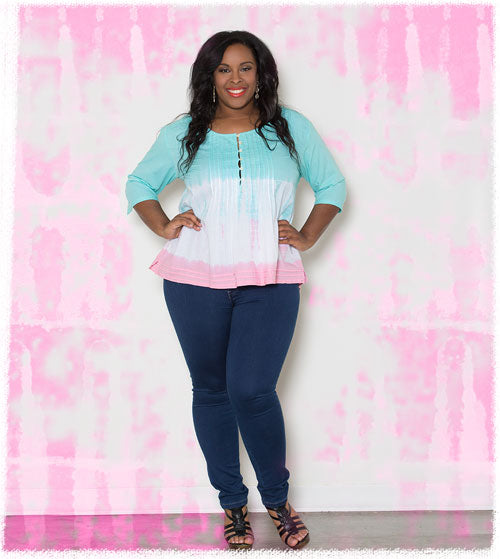 Plus Size Jeans and Top