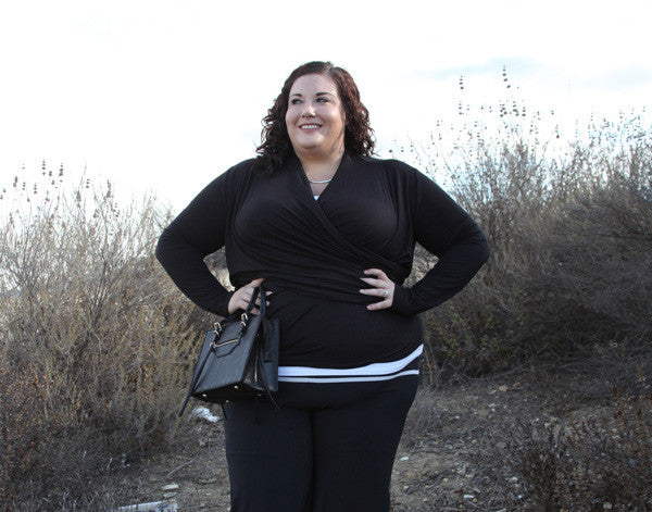 plus size outfit - comfy in black