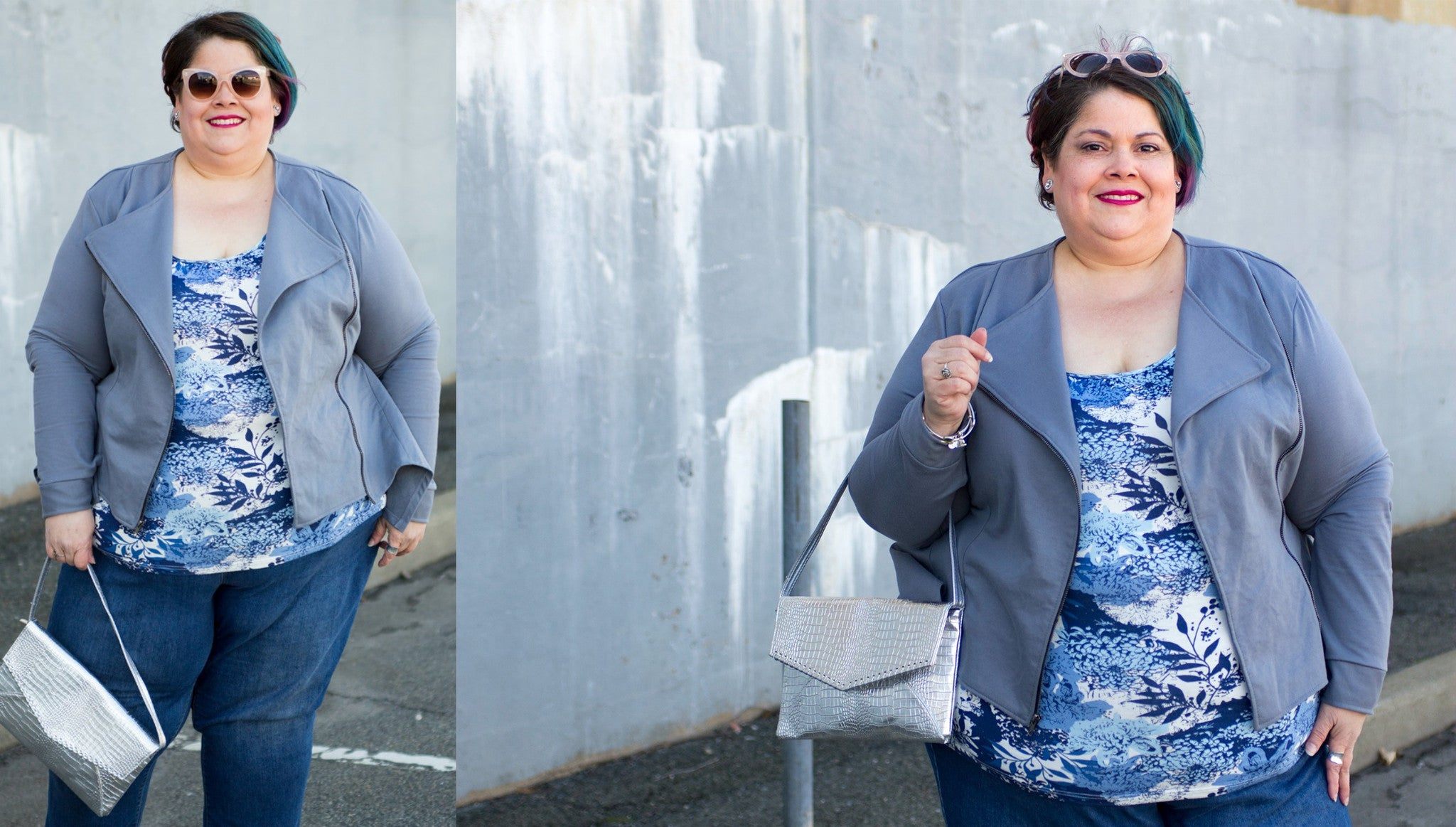 plus size jacket and top