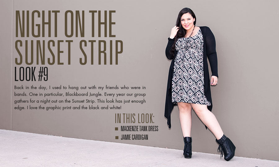 night on the sunset strip | plus size fashion