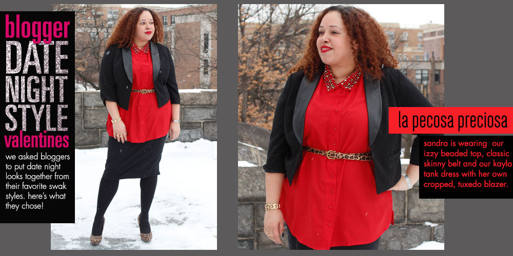 blogger date night plus size style
