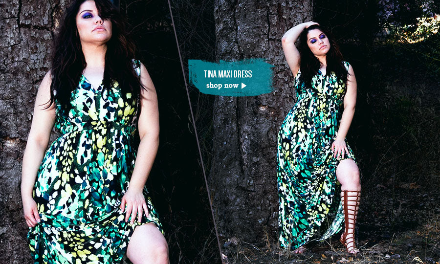 plus size tina maxi dress
