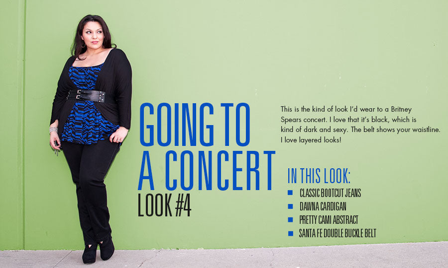 going to a concert | plus size fashion