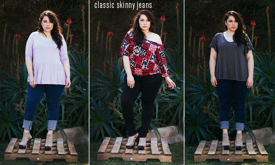 plus size classic skinny jeans