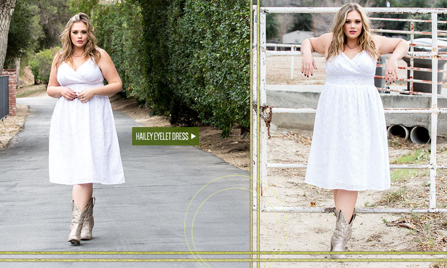 hailey eyelet plus size dress