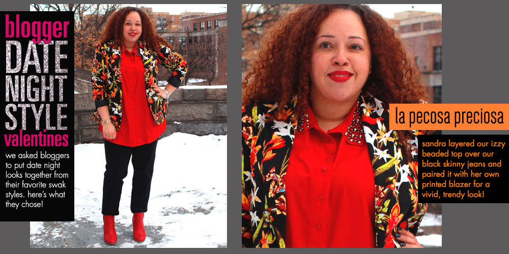 plus size red hot date night
