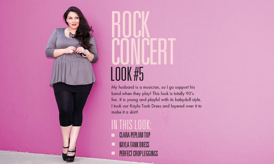 rock concert | plus size fashion