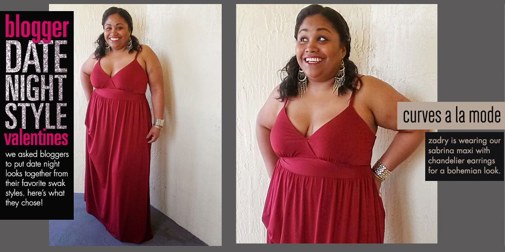 plus size date night red