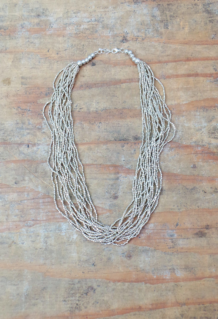 Alloy Brushed Necklace