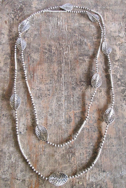 Alloy Layer Leaves Necklace