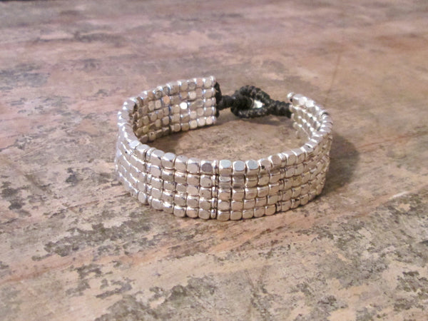 Premium Alloy Bracelet 5 square tight weave