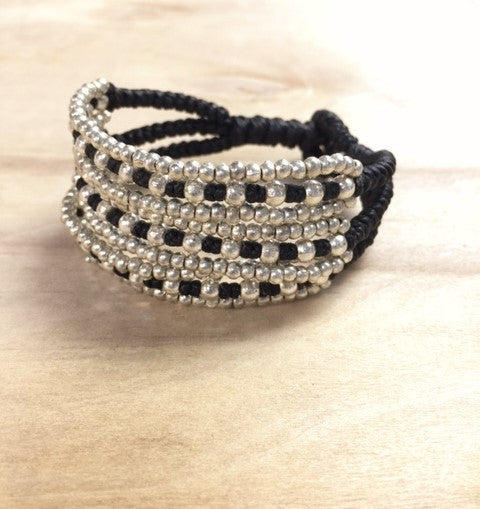 alloy 9 row bracelet