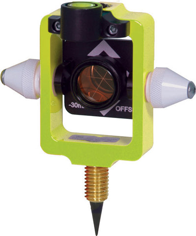 Mini Stakeout Prism with Site Cones - Flo Yellow