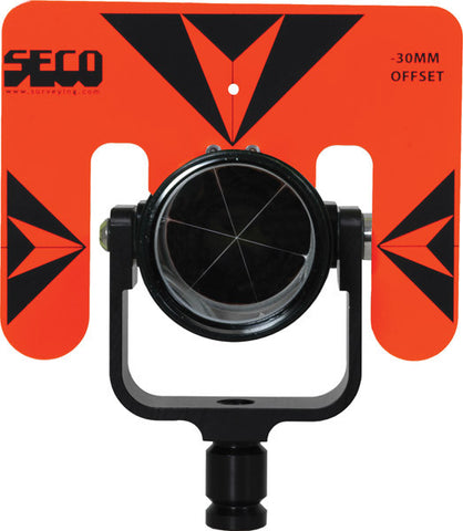Rear Locking 62 mm Premier Prism Assembly with 5.5 x 7 inch Target - Flo Orange with Black