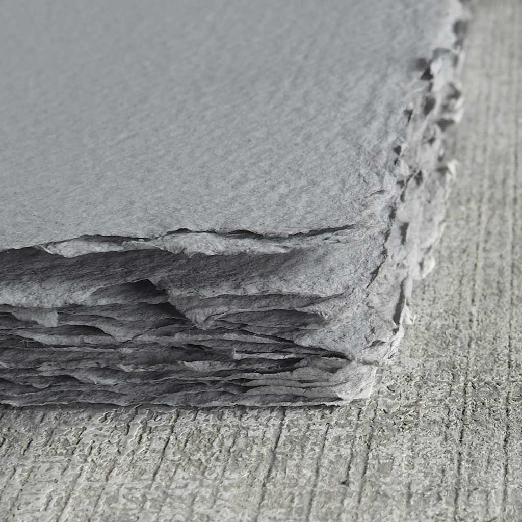 Handmade Grey Paper Surface