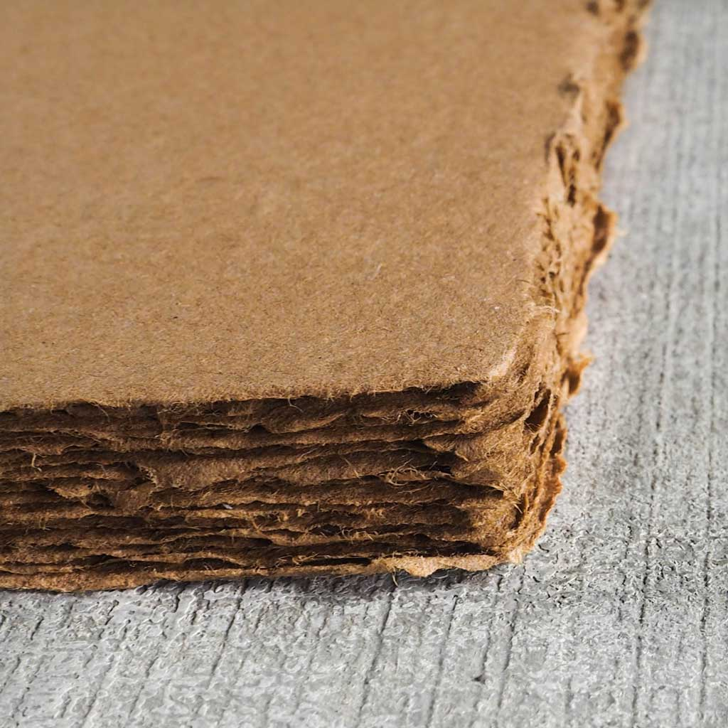 Handmade Paper From Recycled Cardboard Surface