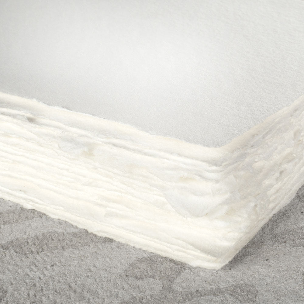 white cotton handmade paper