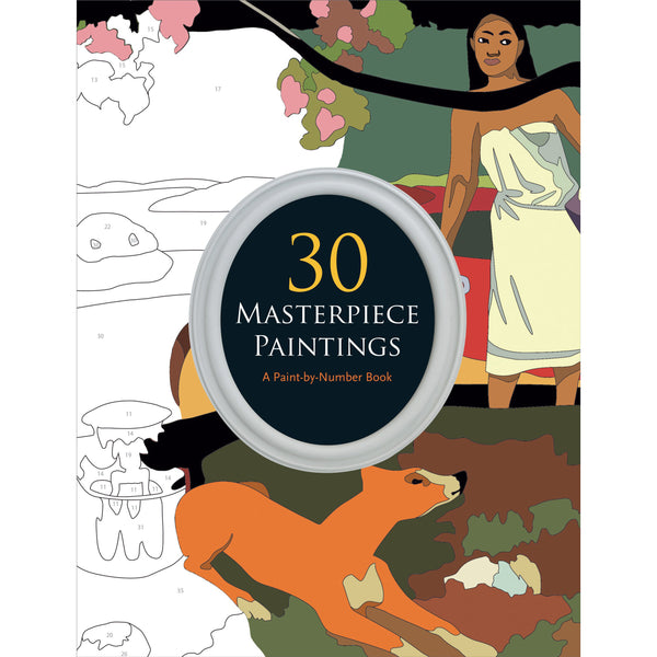30 Masterpiece Paintings: A Paint-By-Number Book