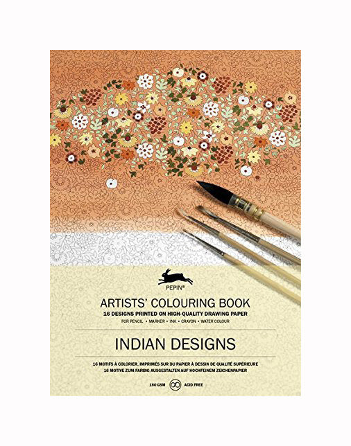 Indian Designs Artists' Coloring Book