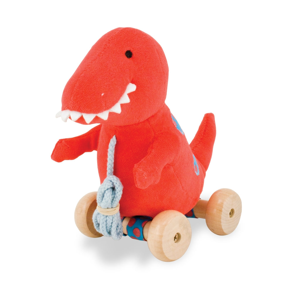 Red T-Rex Classic Pull Toy