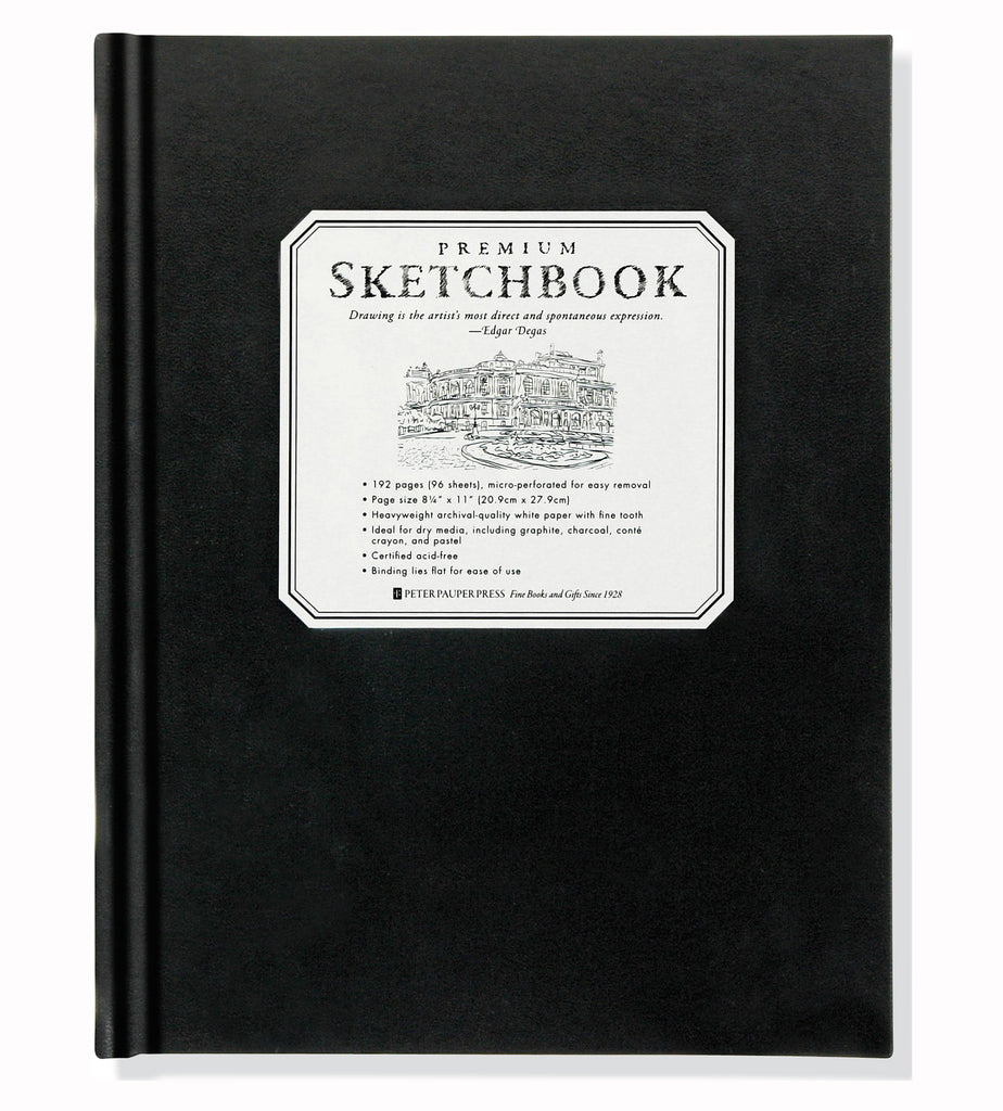 Premium Black Sketchbook