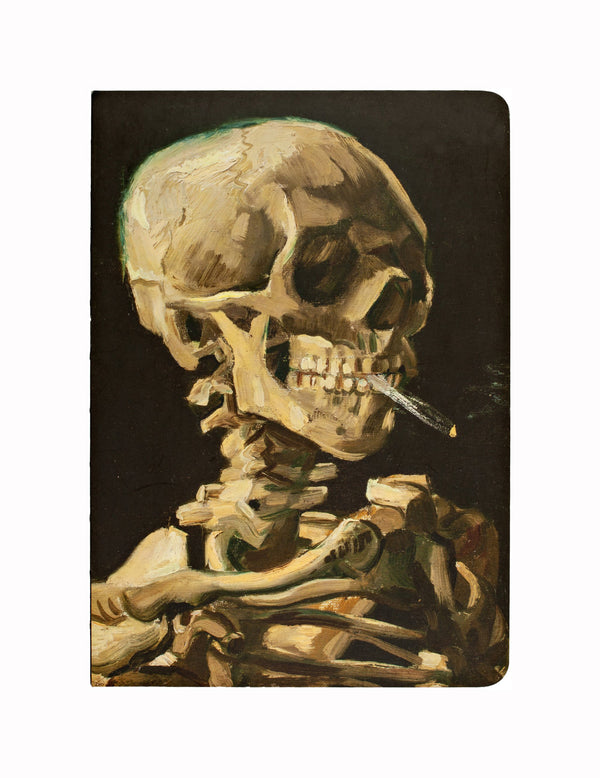 Van Gogh Skeleton with Burning Cigarette Dot Journal