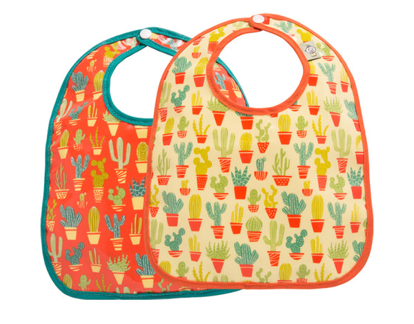 Happy Cactus Mini Bib Gift Set of 2