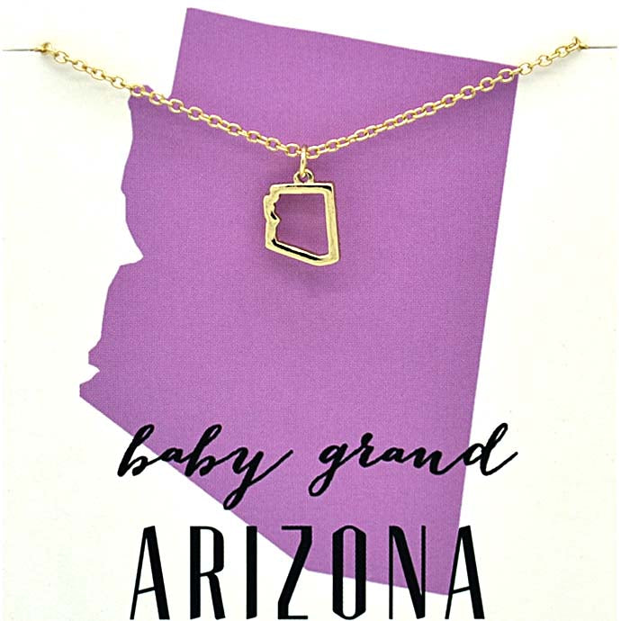 Arizona State Gold Necklace