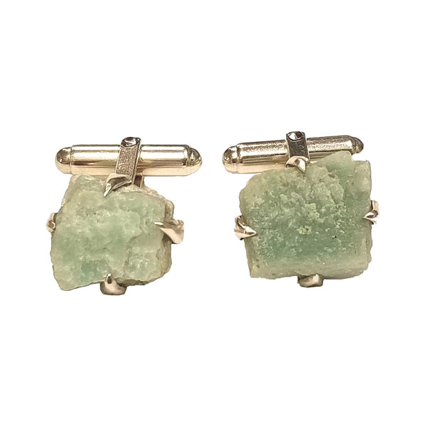 Architectural Salvage Green Aggregate Cufflinks
