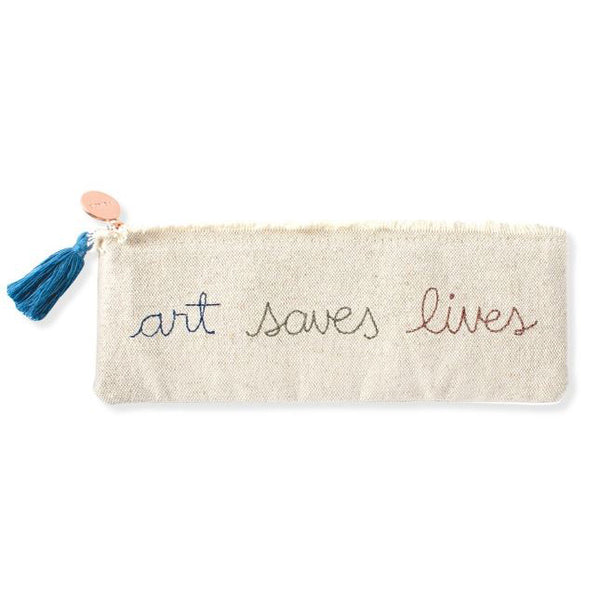 Stitched Art Saves Lives Zip Pouch