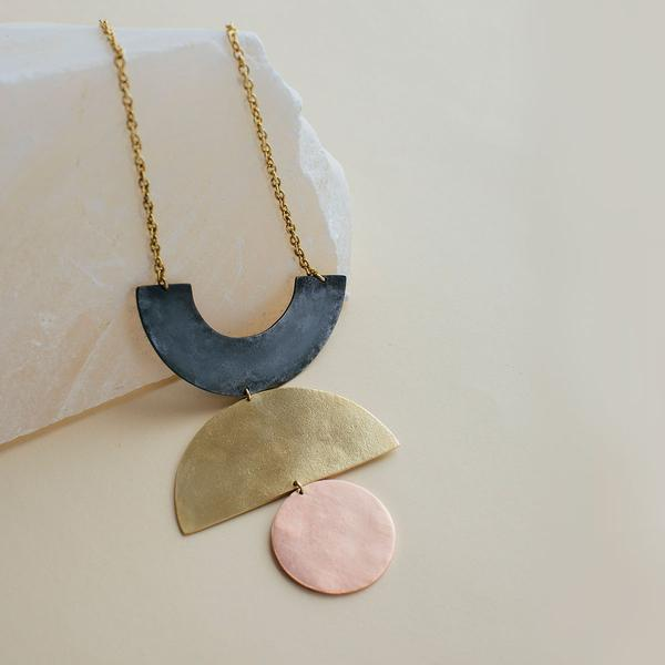 Mixed Metal Balance Necklace