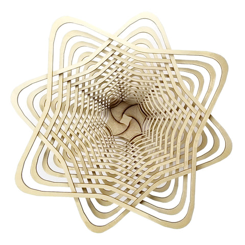 "Baltic Birch Star Bowl 9"" by Robert Jones"