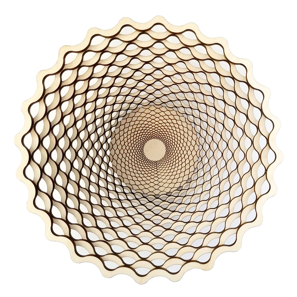 "Baltic Birch Weave Bowl 9"" by Robert Jones"