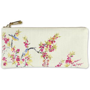 Blossoms and Bluebirds Zip Pouch