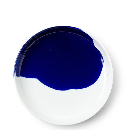 Japanese Blue Splash Ceramic Plate
