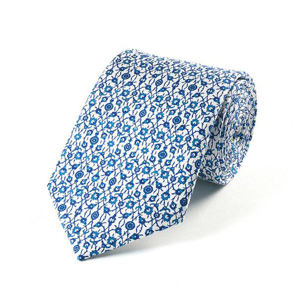 Blue Tiles Silk Necktie