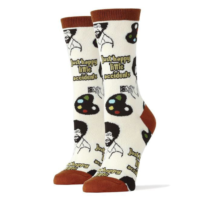 "Bob Ross ""Happy Little Accidents"" Women's Socks"