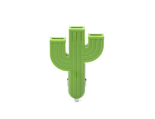 Triple USB Cactus Car Charger