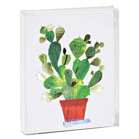 Cactus Foil Notecard Set