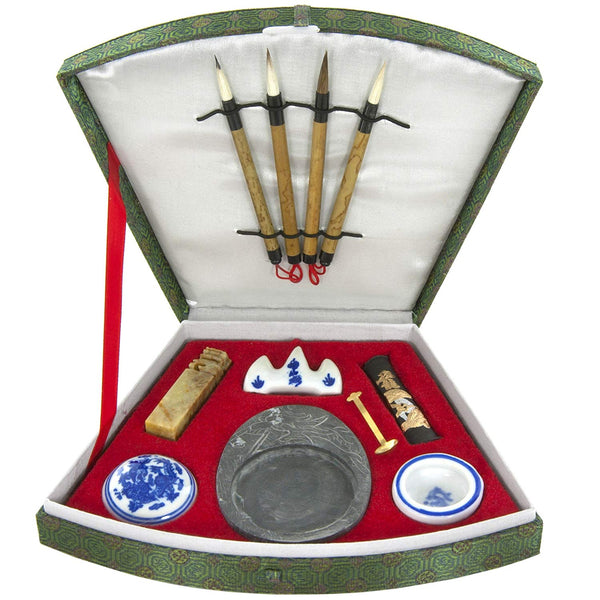 Fan Shaped Calligraphy Set