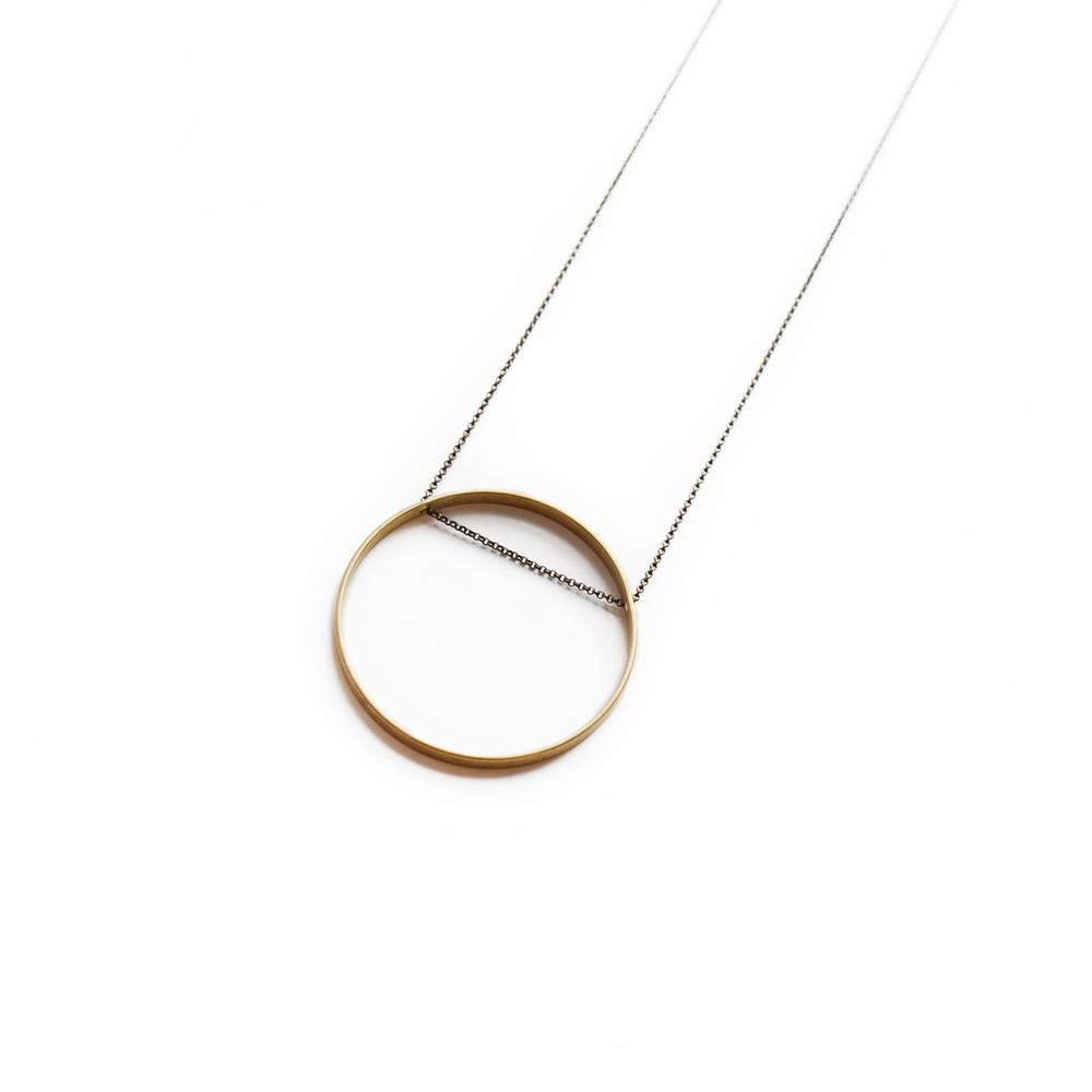 Large Circle Horizon Necklace