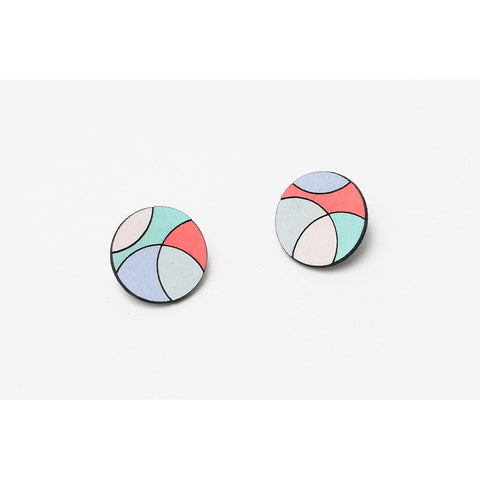 Circloid Stud Earrings - Molly M Designs