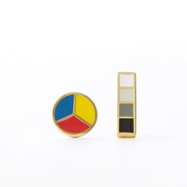 Color Wheel and Gray Scale Earrings